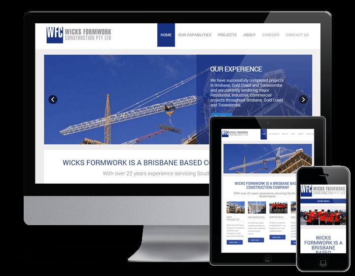 Wicks Formwork - Gold Coast Websites